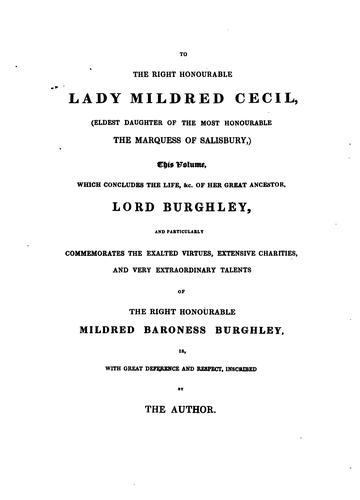 Download Memoirs of the life and administration of the Right Honourable William Cecil, lord Burghley.