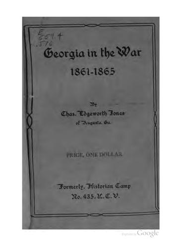 Georgia in the war, 1861-1865.