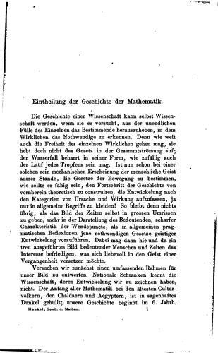 Zur geschichte der mathematik in alterthum und mittelalter.