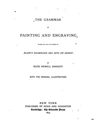 Download The grammar of painting and engraving
