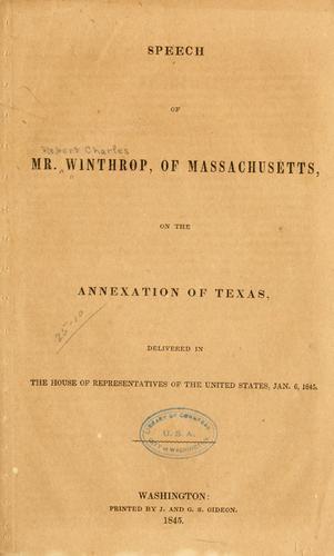 Download Speech of Mr. Winthrop, of Massachusetts