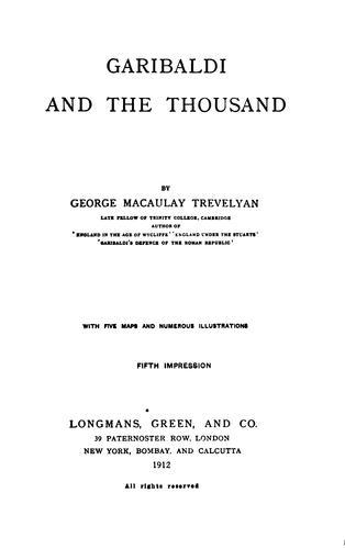 Garibaldi: and the thousand