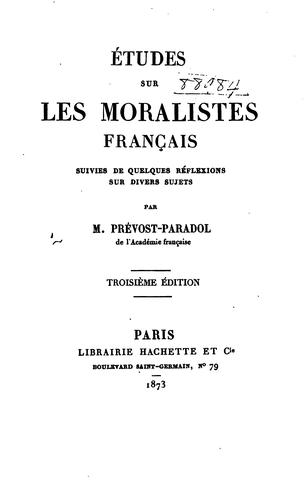 Download Études sur les moralistes français