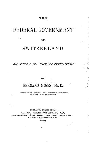 Download The Federal government of Switzerland