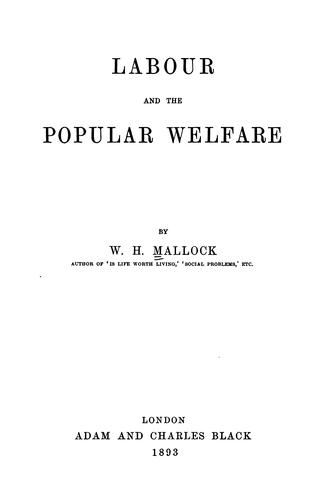 Download Labour and the popular welfare
