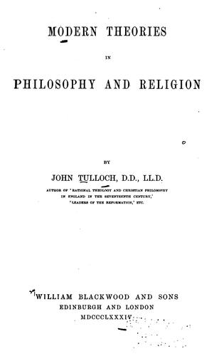 Download Modern theories in philosophy and religion