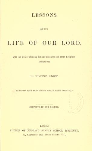 Download Lessons on the life of our Lord
