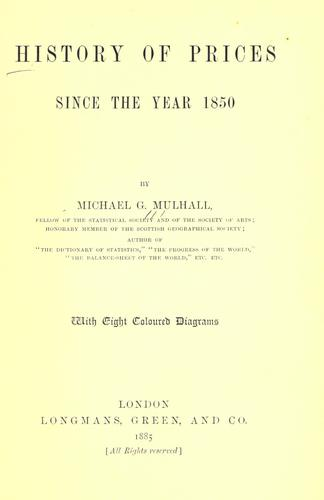 Download History of prices since the year 1850