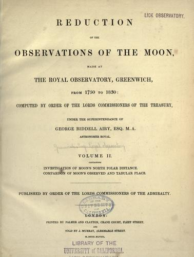 Download Reduction of the observations of the moon