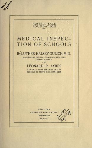 Download Medical inspection of schools.
