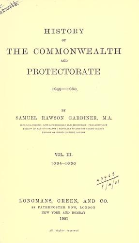 Download History of the Commonwealth and Protectorate, 1649-1660.