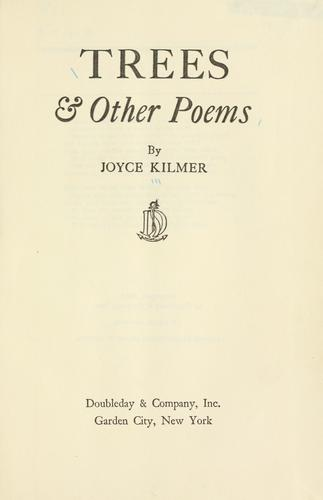 Trees & other poems.