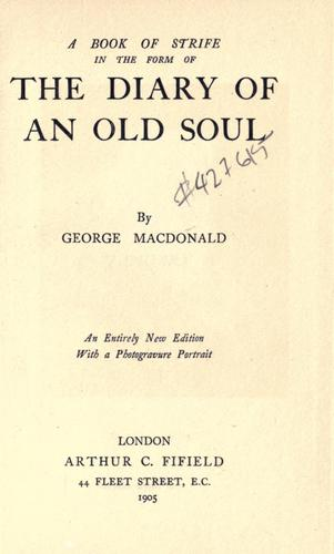 Download A book of strife in the form of the diary of an old soul