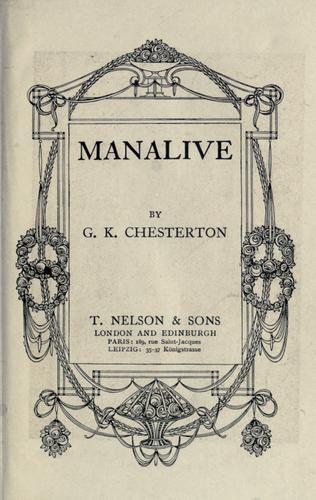 Download Manalive.
