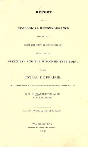 Download Report of a geological reconnoissance made in 1835