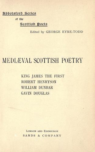 Download Mediaeval Scottish poetry …