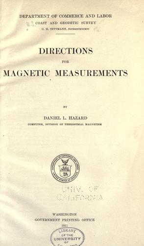 Directions for magnetic measurements