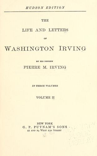 Download The life and letters of Washington Irving