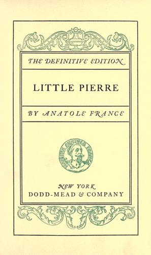 Little Pierre.