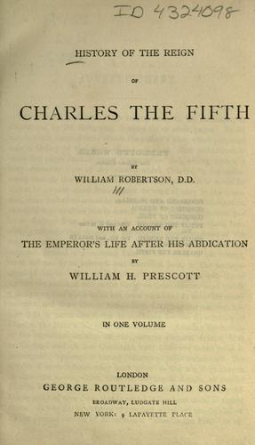 Download History of the reign of Charles the Fifth