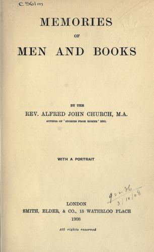 Download Memories of men and books.