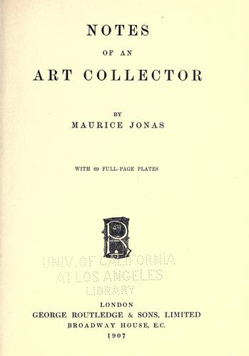 Download Notes of an art collector