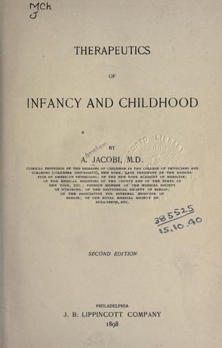 Download Therapeutics of infancy and childhood.