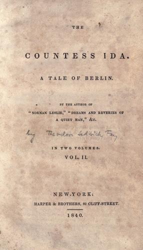 The Countess Ida