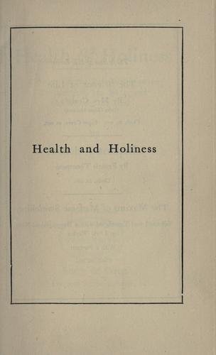 Health & holiness