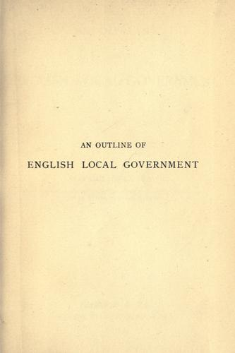 Download An outline of English local government.