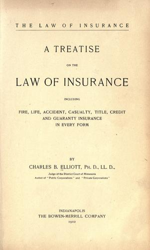 Download The law of insurance