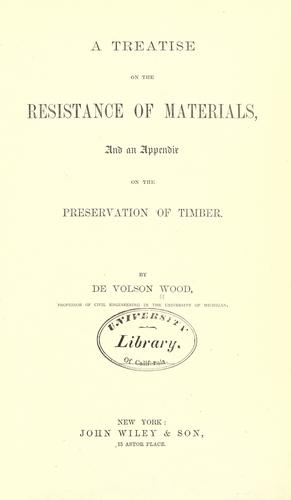 A treatise on the resistance of materials