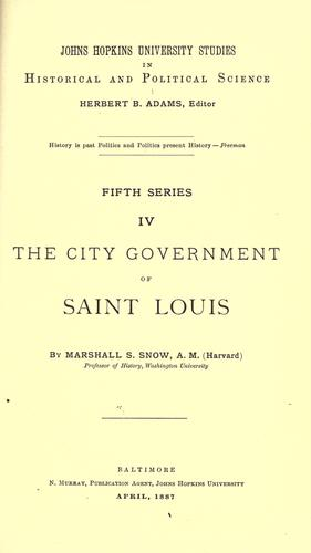 The city government of Saint Louis