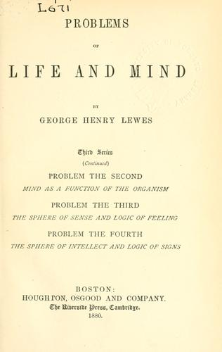 Download Problems of life and mind.