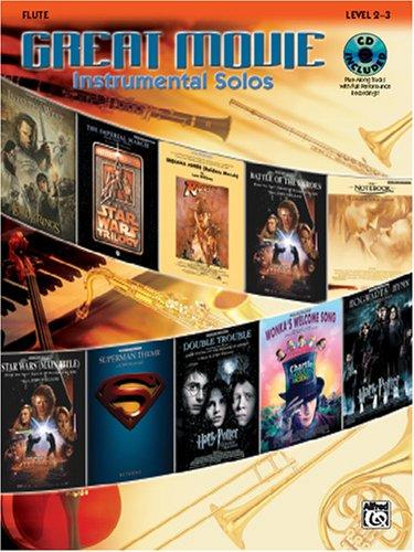 Download Great Movie Instrumental Solos Book & CD (Flute)