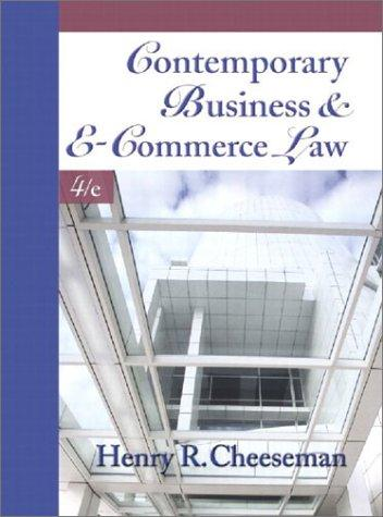 Download Contemporary business and e-commerce law