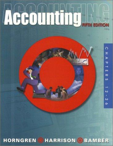 Download Accounting, Chapters 12-26 (5th Edition)
