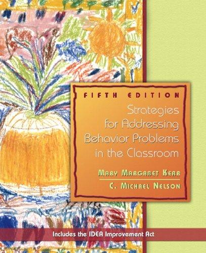 Download Strategies for addressing behavior problems in the classroom