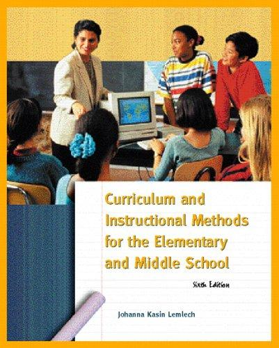 Download Curriculum and instructional methods for the elementary and middle school