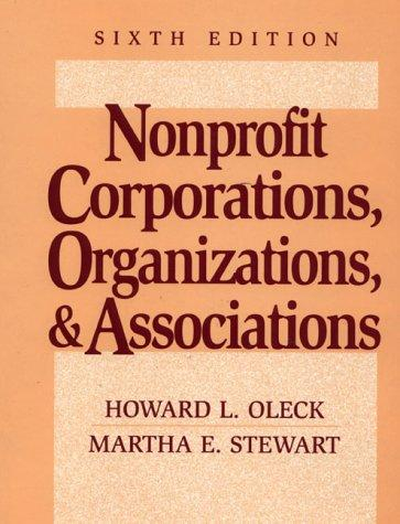 Nonprofit corporations, organizations & associations