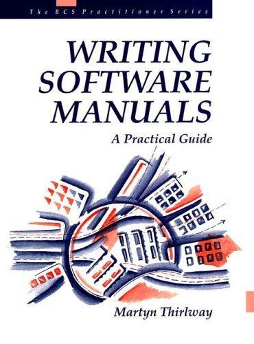 Writing Software Manuals