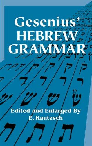Gesenius' Hebrew grammar