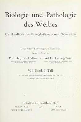 Cover of: Biologie und pathologie des weibes | Josef Halban