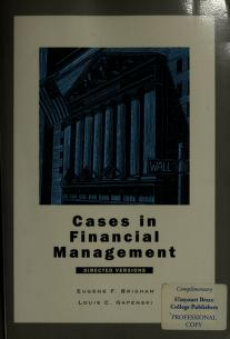 Cases in Financial Management by Eugene F. Brigham