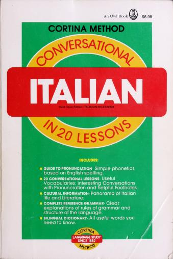 Cover of: Conversational Italian in 20 lessons   Michael Cagno