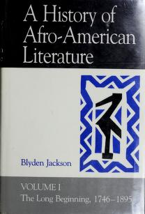 Cover of: A history of Afro-American literature   Blyden Jackson