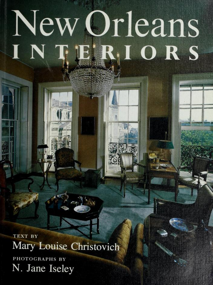 New Orleans interiors by Mary Louise Christovich