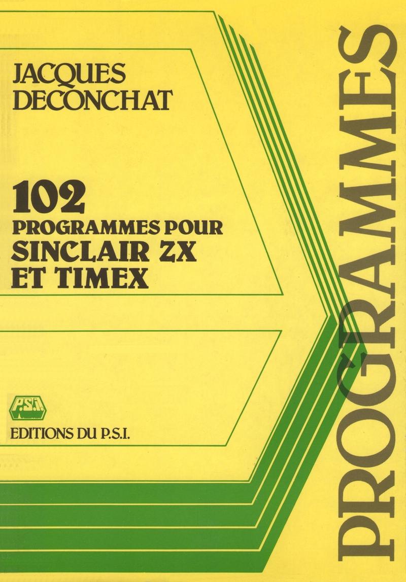 102 Programmes pour Sinclair ZX et Timex screen