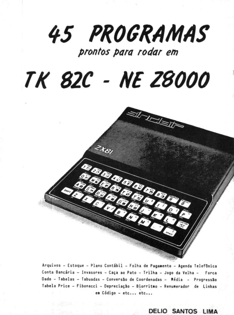 45 Programas Prontos para Rodar em TK82C - NE Z8000 image, screenshot or loading screen
