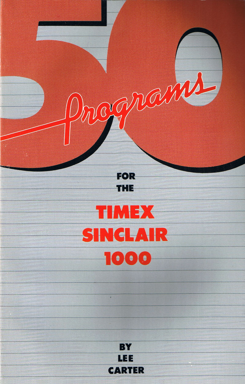 50 Programs for the Timex Sinclair 1000 image, screenshot or loading screen